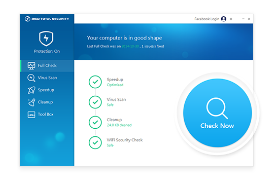 360 Total Security Free Antivirus Screen shot
